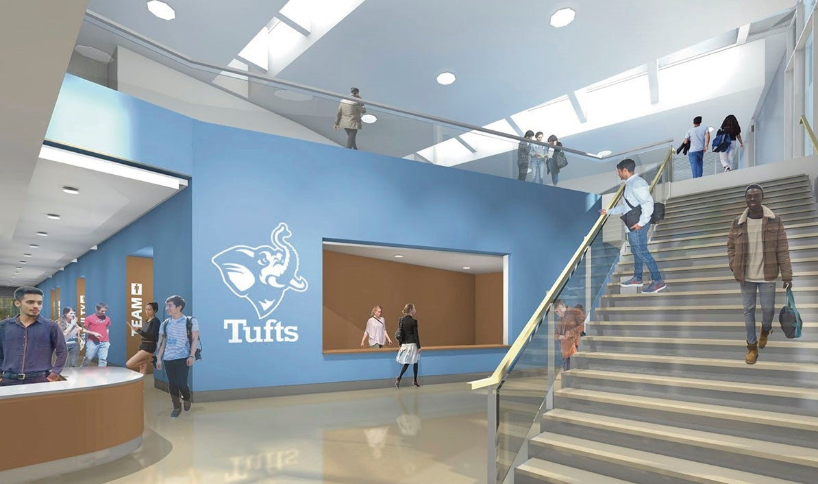 Tufts Aquatic Center - Lobby and stairs