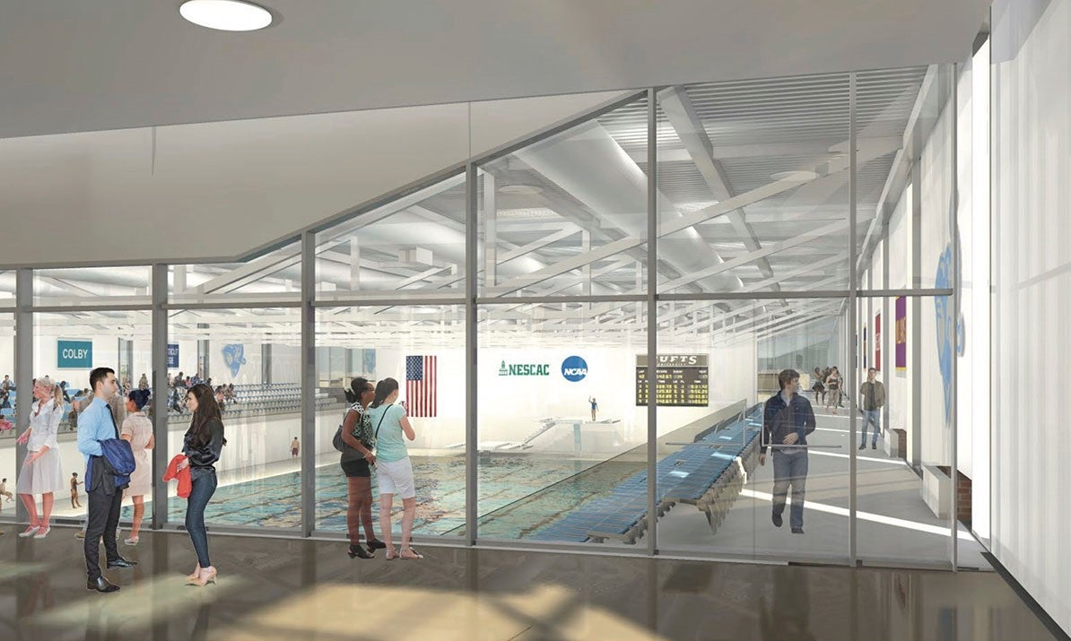 Tufts Aquatic Center - Viewing room