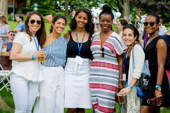 A group of young Tufts alumnae