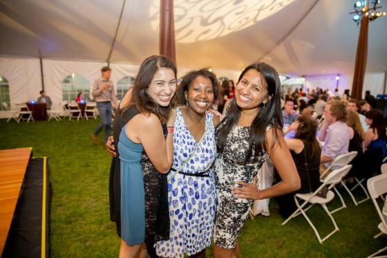 Three Alumni posing for picture at Back to the Hill event