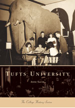 Book cover with an image of the original Tufts stuffed Jumbo titled History in Pictures