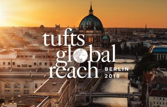 Photo of Berlin with Tufts Global Reach Logo