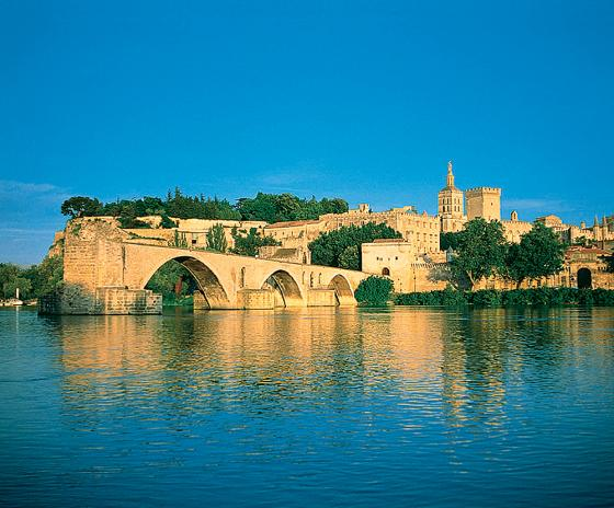 Castle and river in Provence, France