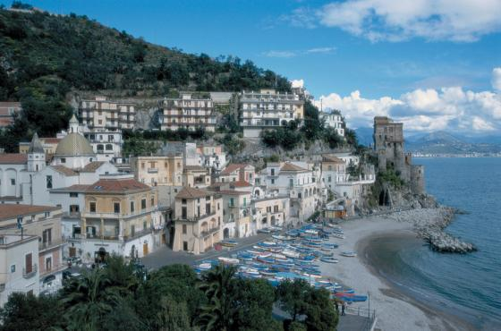 Amalfi Coast Italy with colorful buildings