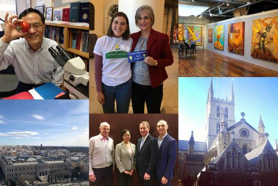 Students participating in various Tufts-related activities -- from research in Medford to life in London.