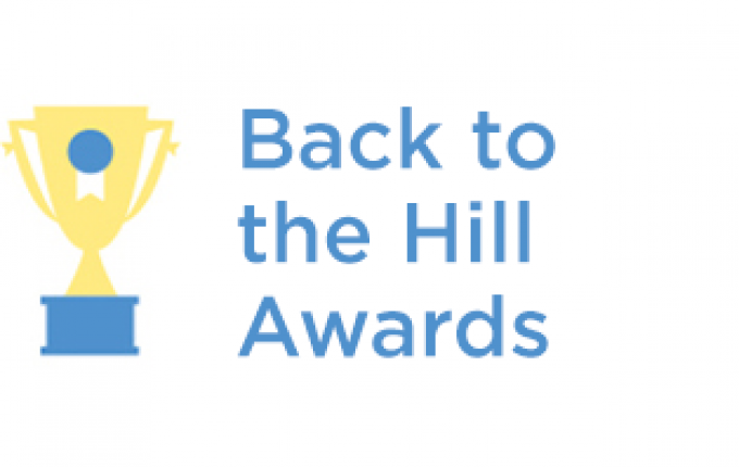Back to the Hill Awards logo with trophy