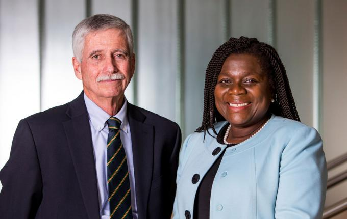 Gerald Gaughan and Joyce Sackey