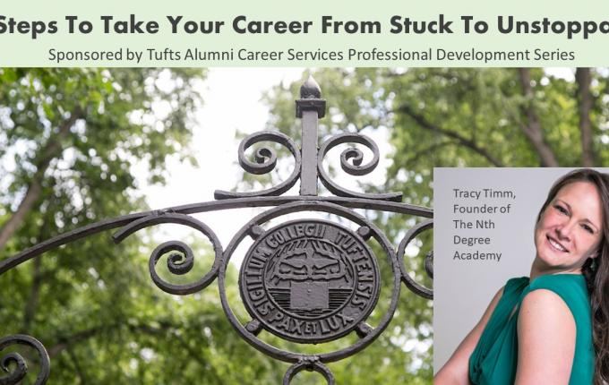 1:05:54 / 1:15:49 5 Steps To Take Your Career From Stuck to Unstoppable with Tracy Timm
